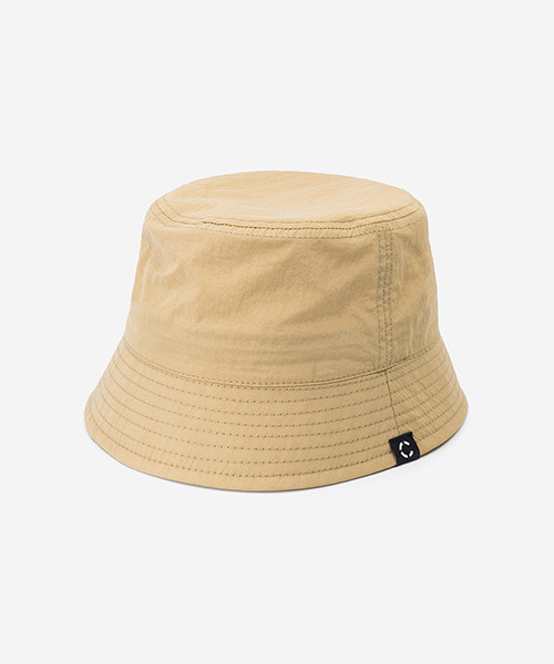 Big Sized Bucket Hat Washed Nylon Beige