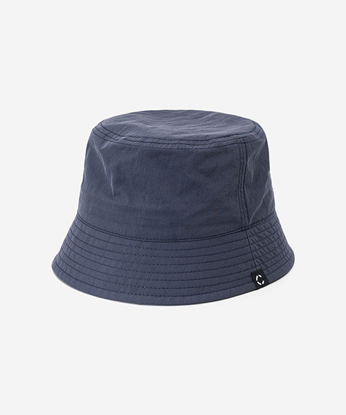 Big Sized Bucket Hat Washed Nylon Navy